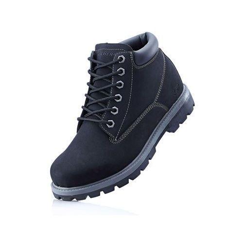 Bonprix Kozaki sznurowane sneakers czarny
