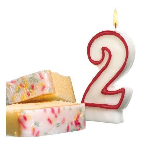 Pelikan Świeczka na tort urodziny cyfra 2 7,7cm susy-card - cyfra 2