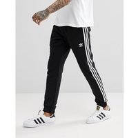 adicolor skinny joggers cuffed in black cw1275 - black marki Adidas originals