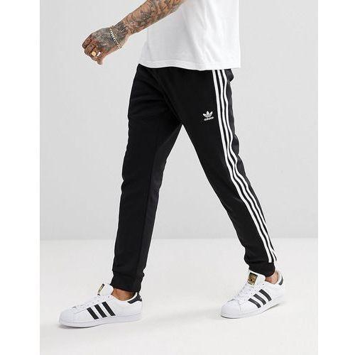 adicolor skinny joggers cuffed in black cw1275 - black marki Adidas originals