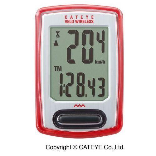 Cateye Licznik rowerowy velo wireless cc-vt230w - czerwony