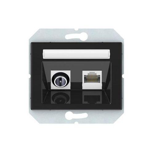 Dpm Gniazdo multimedialne vilma tvl/klrj45-15e2-02steel stalowy