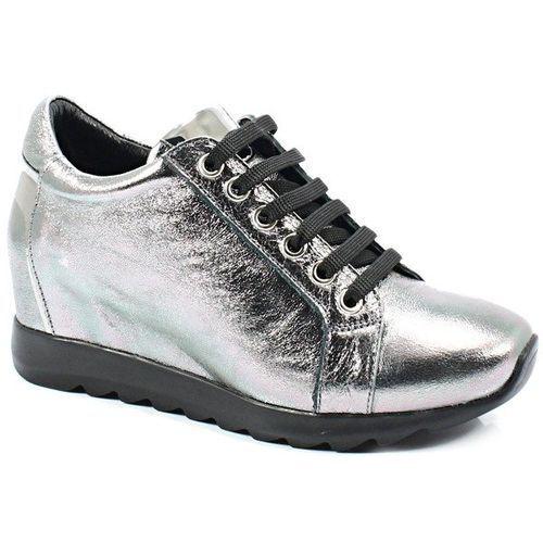058477219k srebro - sneakersy z koturną marki Venezia