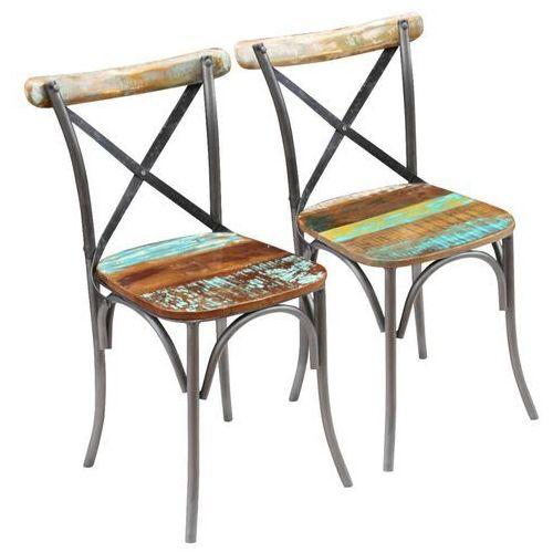 Krzesło do jadalni 2 szt. z drewna odzyskanego 51x52x84 cm