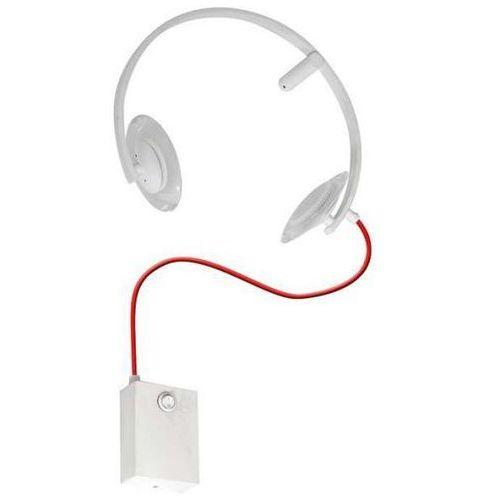 Kinkiet LAMPA ścienna TUNE 0019 Milagro dekoracyjna OPRAWA LED 10W słuchawki biała