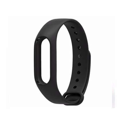 Opaska zamienna pasek guma do Xiaomi Mi Band 2 czarna - Czarny, kolor czarny