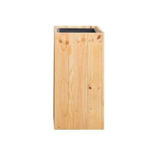 Beliani Doniczka drewniana prostokątna 28 x 28 x 60 cm sykia