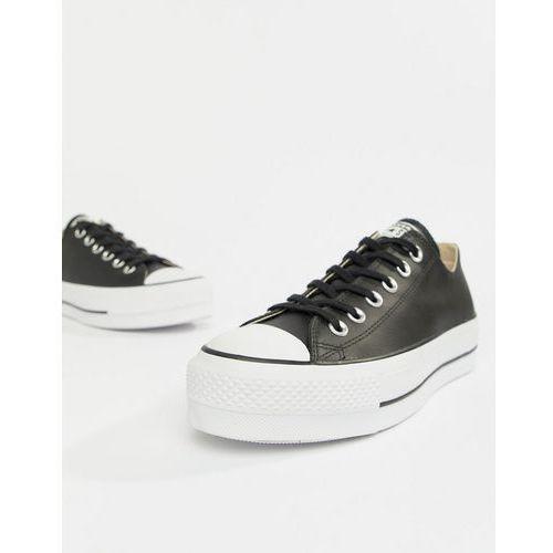 564f5cd8c68a4 Damskie obuwie sportowe · Converse Chuck Taylor All Star leather platform  low trainers in black - Black, kolor czarny