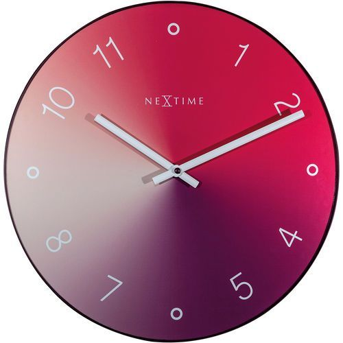 Zegar ścienny gradient czerwony 40 cm (8194 ro) marki Nextime