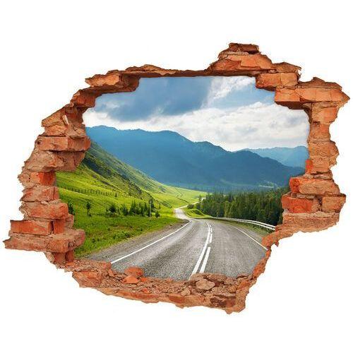 Wallmuralia.pl Dziura 3d w ścianie naklejka droga w górach