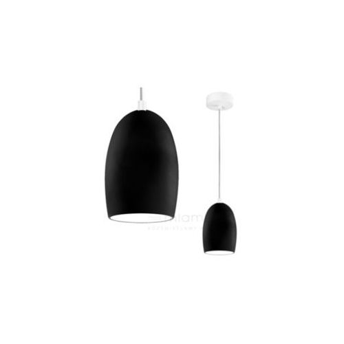 LAMPA wisząca UME 1/S/BLACK MATTE/OPAL Sotto Luce szklana OPRAWA zwis czarny matowy, kolor Czarny