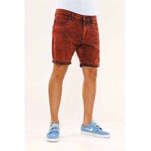 szorty REELL - Palm Short Colored Red (COLORED RE) rozmiar: 32, kolor czerwony