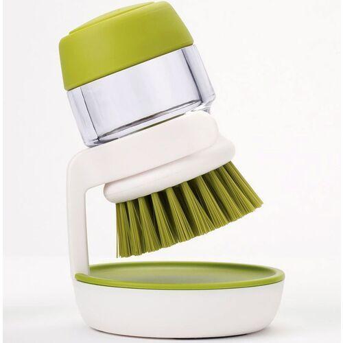 Szczotka do mycia naczyń z zasobnikiem palm scrub joseph joseph zielona (85004) (5028420850048)