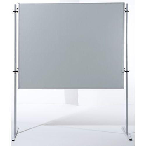 Ścianka funkcyjna, wys. x szer. 1500x1200 mm, obicie tkaniną, kolor jasnoszary, marki Carto