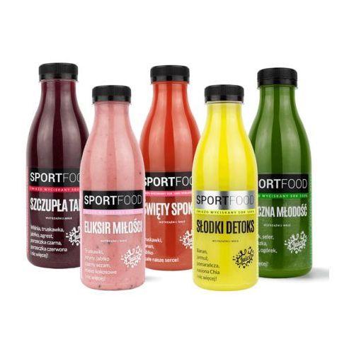 Sportfood Dieta 1 dniowa / soki coldpress / dostawa w 24h / detoks sokowy / dieta sokowa