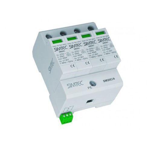Ogranicznik przepięć c 4p 20ka simtec sm20c/4-275 85102000 marki Simet
