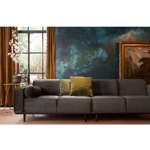 Be pure sofa czteroosobowa aksamitna ciemnozielona statement 378657-156