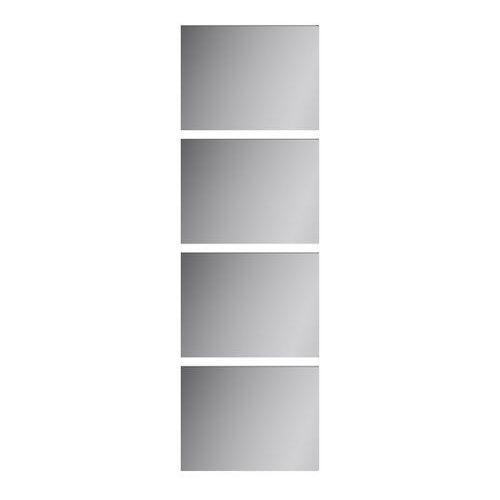 Goodhome Panele do drzwi przesuwnych atomia 225 x 150 cm lustro 4 szt.