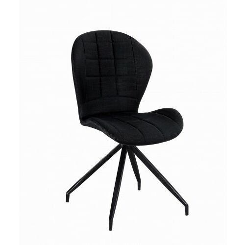 Big meble Krzesło tapicerowane sawana czarne big dc-21 dostawa 0zł