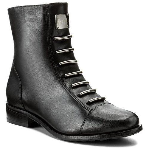 Botki EKSBUT - 65-3828-155-1G Czarny Licowa, kolor czarny