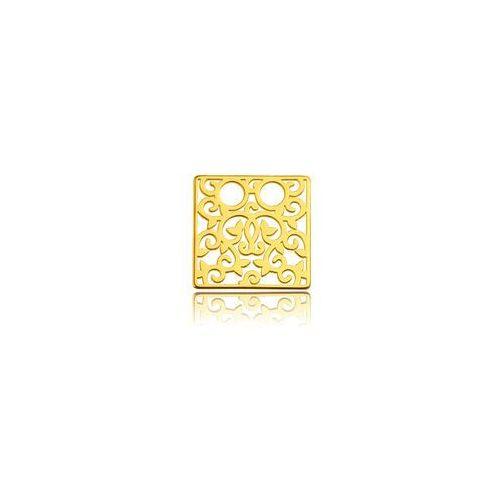 Blaszka Celebrytka kwadrat - ażurowa, złoto próba 585