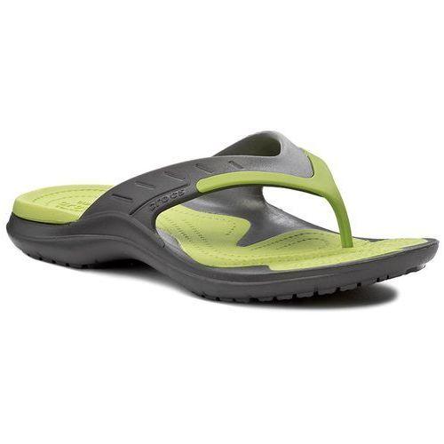 Crocs Japonki - modi sport flip 202636 graphite/volt green
