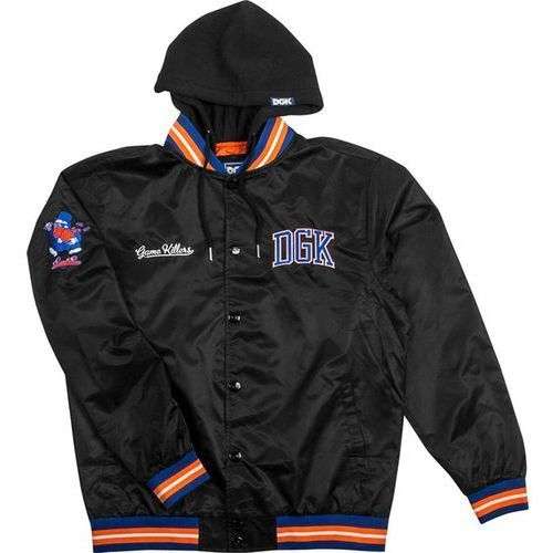 Bluza - game killer custom hooded jacket black (black) marki Dgk