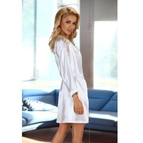 Komplet model alexandra dressing gown white wyprodukowany przez Beautynight