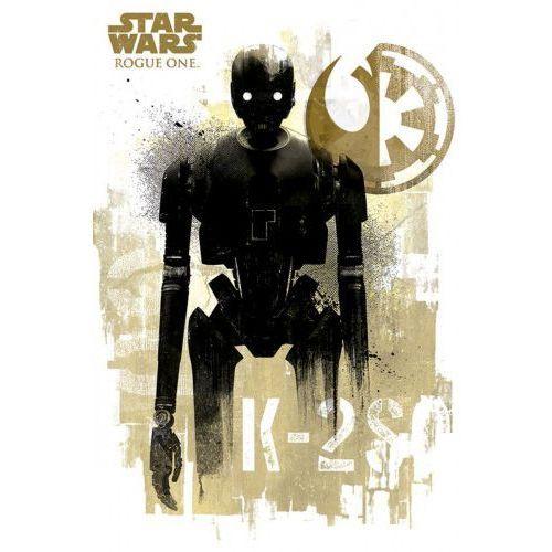 Star wars gwiezdne wojny łotr 1 (k-2s0 grunge) - plakat marki Gf