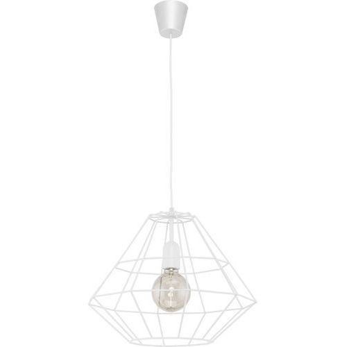 Lampa wisząca druciana zwis diament TK Lighting Diamond 1x60W E27 biała 1996, 1996