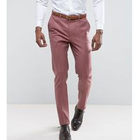 Asos tall wedding skinny smart trouser in pink 100% merino wool - pink