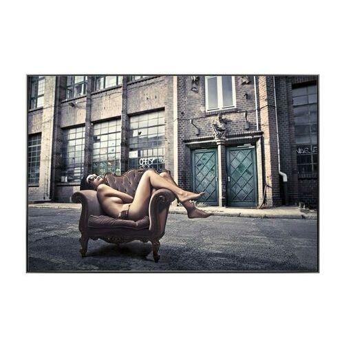 Vente-unique Obraz drukowany w ramie streety – 80 × 120 × 2,5 cm (dł. × szer. × wys.) – kolor szary i beżowy