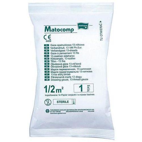 Tzmo s.a. Gaza opatrunkowa matocomp jałowa 13-nitkowa 1/2 m2