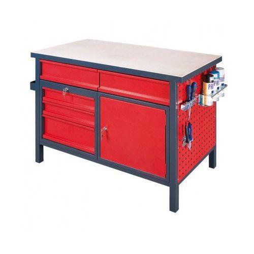 Stół roboczy z zamykaną szafką i szufladami