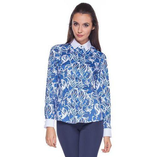 Niebieska koszula z białym kołnierzem - Duet Woman