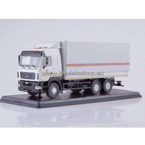 MAZ-6312 Flatbed Truck with Tent (facelift) MCS (4600001012161)