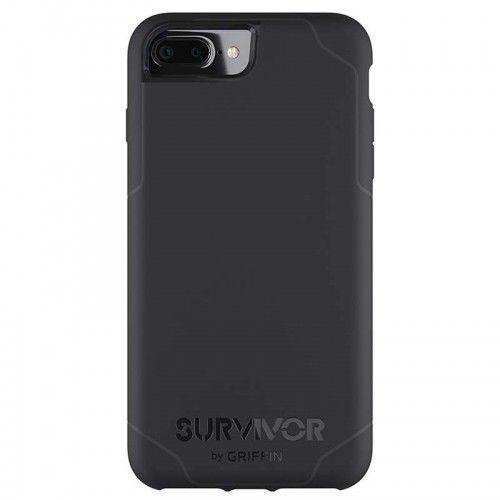 Griffin Survivor Strong - Etui iPhone 8 Plus / 7 Plus / 6s Plus / 6 Plus (czarny/szary)