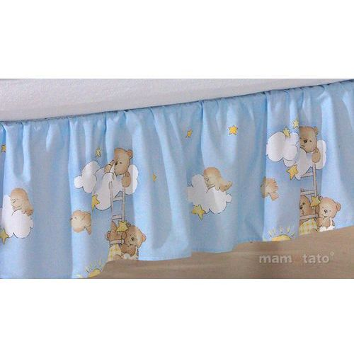 falbanka drabinki z misiami na błękitnym tle marki Mamo-tato
