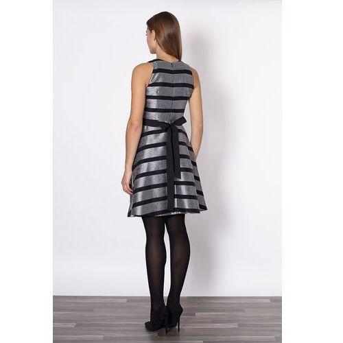 Sukienka Model Alma 20647 Black/Grey, Click Fashion
