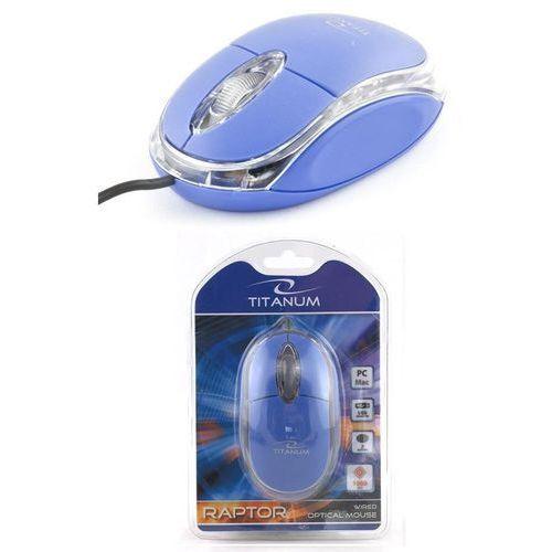 Mysz przewodowa 3d raptor tm102b optyczna niebiesko-przezroczysta marki Titanum