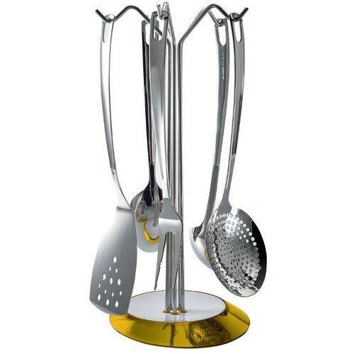 - glamour - zestaw 5 przyborów na stojaku żółtym - żółty marki Casa bugatti