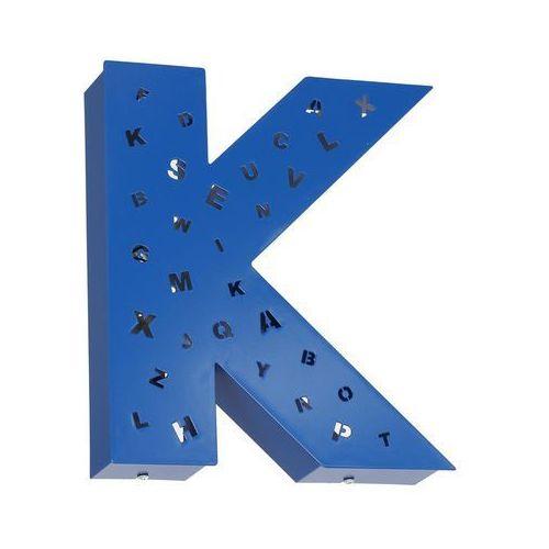 Aldex Kinkiet lampa ścienna literka k z dziurkami 2x40w e14 niebieska 797s11/d/k (5904798637651)