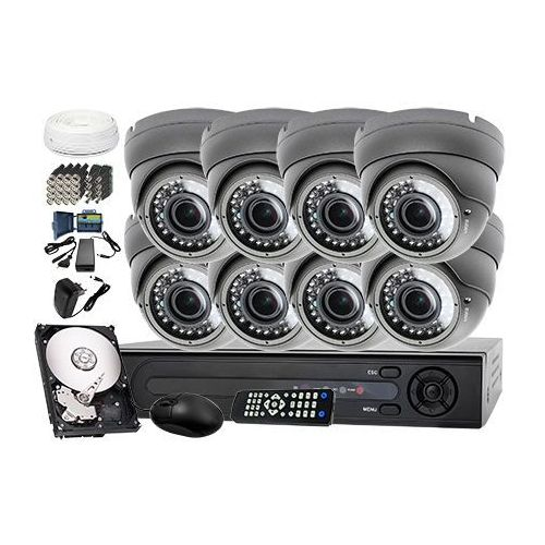 Zestaw do monitoringu: rejestrator lv-xvr84+ 8x kamera lv-al40hvd + dysk 1tb + akcesoria marki Ivelset