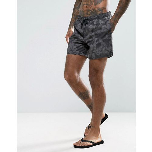 New Look Swim Shorts With Tie Dye In Black - Black