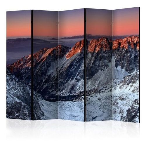 Artgeist Parawan 5-częściowy - beautiful sunrise in the rocky mountains ii [room dividers]