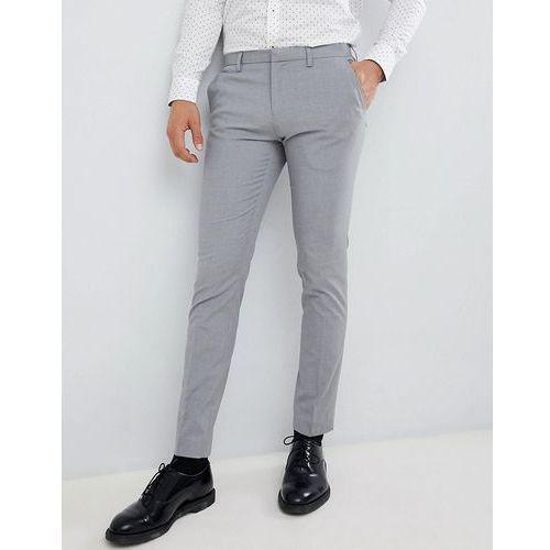 Burton menswear super skinny fit trouser in grey - grey