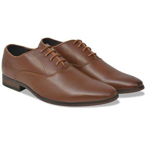 eleganckie sznurowane buty męskie, brązowe, rozmiar 43 skóra pu, Vidaxl