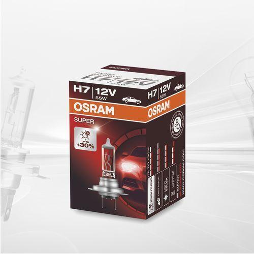Osram h7 12v 55w px26d night breaker® unlimited (do +110% więcej światła, do 35m-40m dłuższy zasięg,do +20% bielsze światło) (4052899413344)