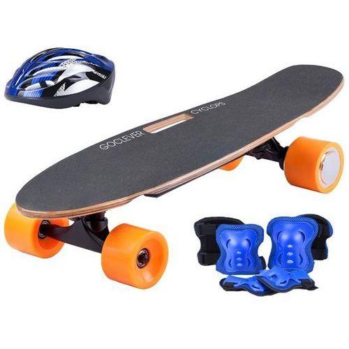 Goclever City rider cyclops black + blue helmet + blue protectors