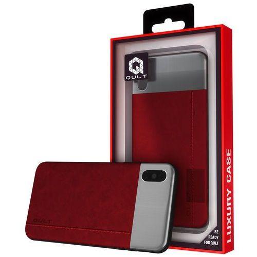 Etui QULT Back Case Slate do iPhone X Czerwony, kolor czerwony